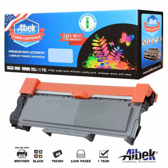 Aibek Toner Cartridge For Brother TN2380