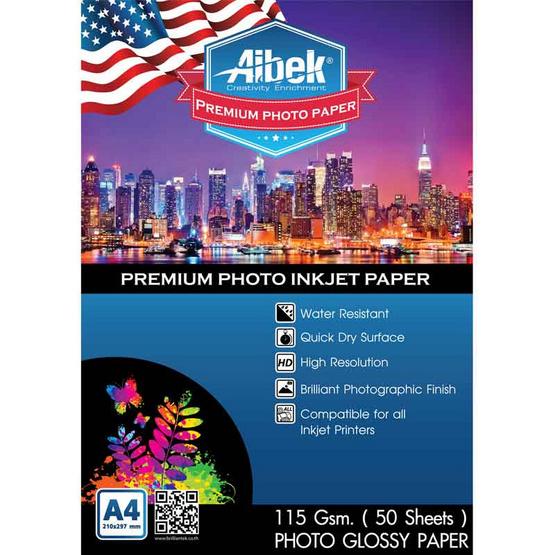 Aibek Glossy Paper 115 G/50 Sheets (A4)