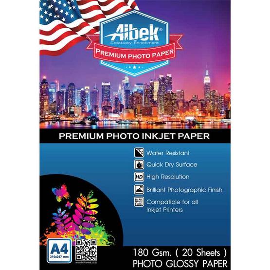 Aibek Glossy Paper 180 G/20 Sheets (A4)