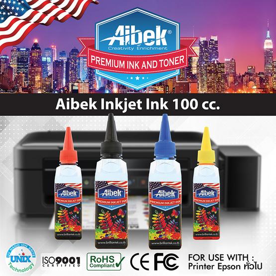 Aibek Inkjet Inks BK / C / M / Y For Epson (100 cc) Pack 4