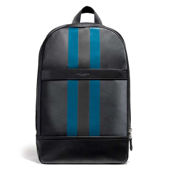 COACH กระเป๋า F22374 CHARLES SLIM BACKPACK WITH VARSITY STRIPE