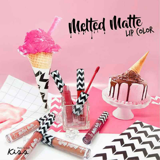 Malissa kiss Melted Matte Lip Color #08 Pink Flamingo