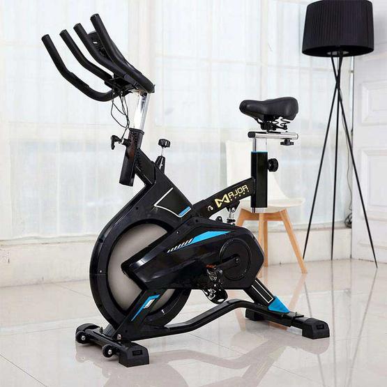 Major Sport จักรยานนั่งปั่น Spin Bike รุ่น M795 สีฟ้า-ดำ ฟรี แท่นวางมือถือ และสายแรงต้าน