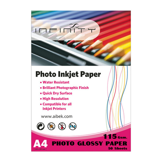 Infinity Glossy Paper 115 G / 50 Sheets (A4)