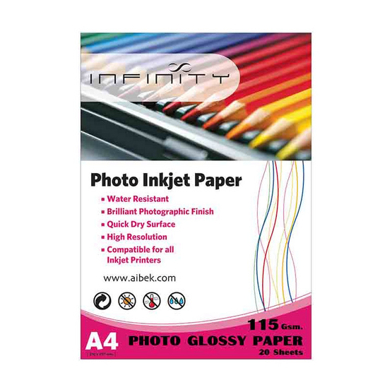 Infinity Glossy Paper 115 G / 20 Sheets (A4)