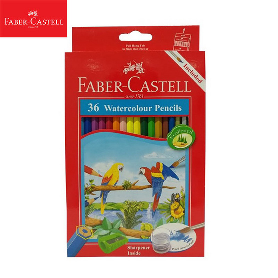 Faber-Castell ดินสอสีไม้ระบายน้ำ 36 สี กล่องกระดาษ