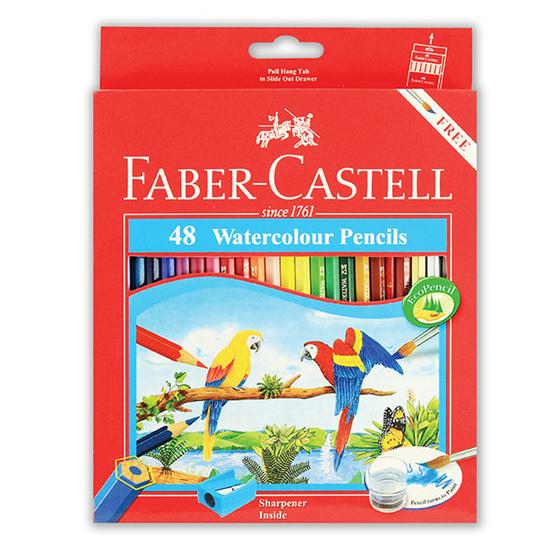 Faber-Castell ดินสอสีไม้ระบายน้ำ 48 สี กล่องกระดาษ
