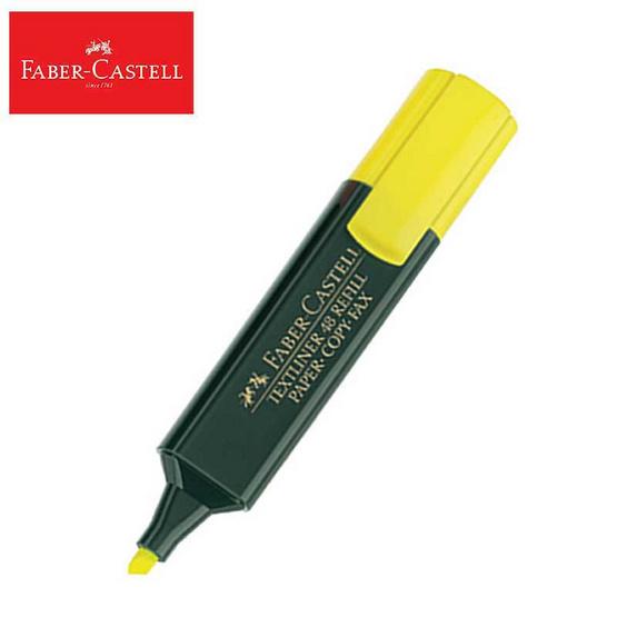 Faber-Castell ปากกาเน้นข้อความ สีเหลือง (บรรจุ 10 ด้าม/กล่อง)