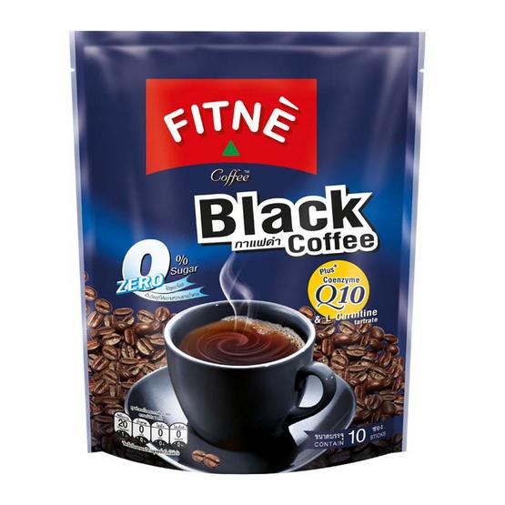 FITNE คอฟฟี่ กาแฟดำผสมโคเอนไซม์คิวเท็น 10 ซอง 5 กรัม / ซอง