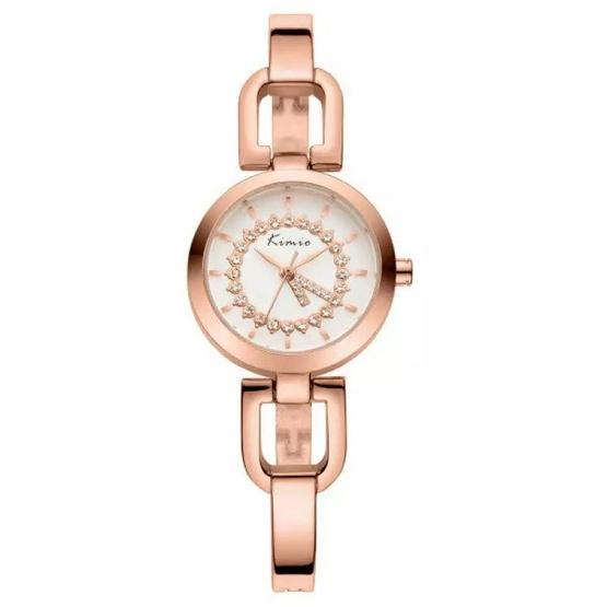 Kimio นาฬิกาข้อมือผู้หญิง สีพิงค์โกล์ด สายสแตนเลส รุ่น KW6102