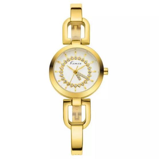 Kimio นาฬิกาข้อมือผู้หญิง สีทอง สายสแตนเลส รุ่น KW6102