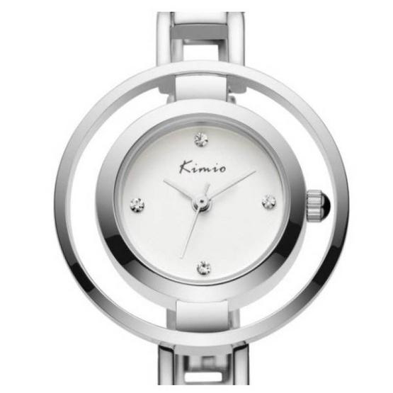 Kimio นาฬิกาข้อมือผู้หญิง สีเงิน สายสแตนเลส รุ่น KW6100