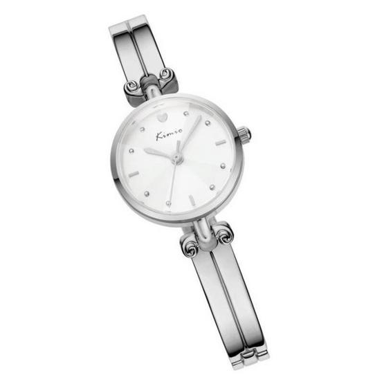 Kimio นาฬิกาข้อมือผู้หญิง สีเงิน/ขาว สายสแตนเลส รุ่น KW6041