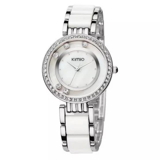 Kimio นาฬิกาข้อมือผู้หญิง รุ่น K485 - สีขาว/เงิน
