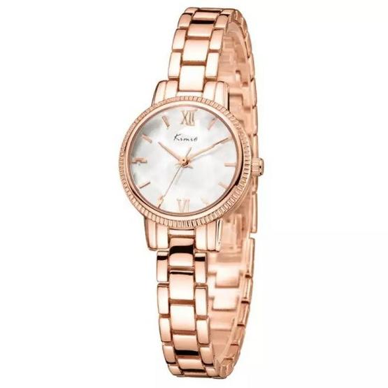 Kimio นาฬิกาข้อมือผู้หญิง สายสแตนเลส สีโรสด์โกล์ด/หน้าปัดสีขาว รุ่น KW6139