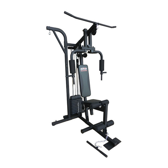 G Sport Home Gym ชุดฝึกกล้ามเนื้อ 1 สถานี รุ่น AL-7002 สีเทาเข้ม/ดำ