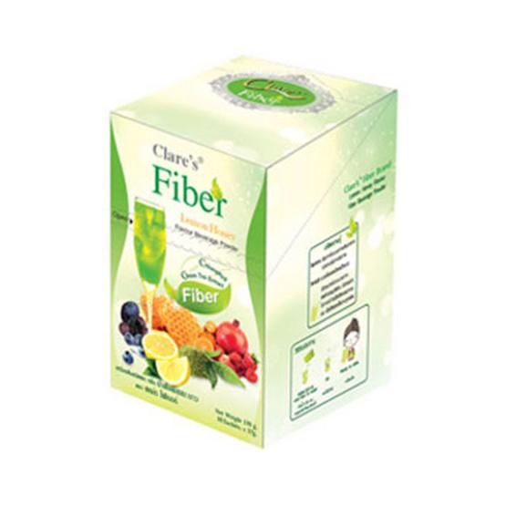 Clares Fiber แคล์ร ไฟเบอร์ เครื่องดื่มชนิดผง กลิ่น น้ำผึ้งผสมมะนาว 10 ซอง/กล่อง