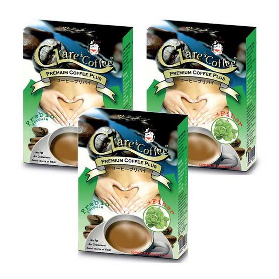 Clares Coffee Prebio กาแฟสำเร็จรูป 10 ซอง/กล่อง
