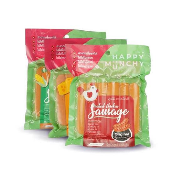 ลิตเติลมันช์ชี่ ไส้กรอกไก่รมควันสูตรต้นตำรับ 180 กรัม ซื้อ 12 ชิ้น ฟรี 1 ชิ้น คละรสชาติ (แพ็ค 13)