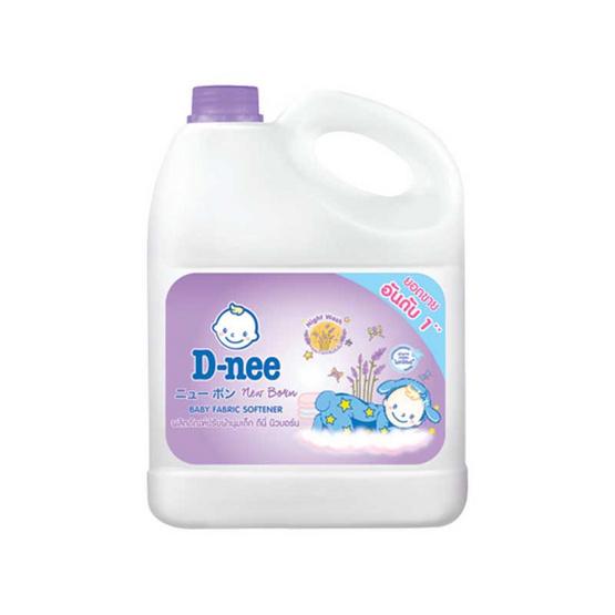 D-nee ผลิตภัณฑ์ปรับผ้านุ่มเด็ก แบบแกลลอน 3,000 มล. สีม่วง