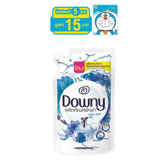 Downy ผลิตภัณฑ์ซักผ้า กลิ่นซันไรท์ เฟรช คลีน 600 มล. ถุงเติม สีฟ้า