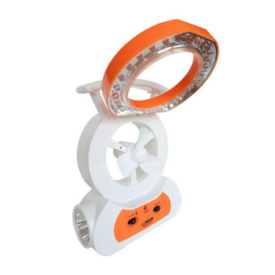 AIKO พัดลม Mini Rechargeable KN-2903 ส้ม-ขาว