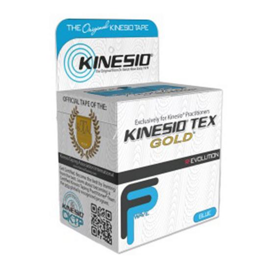 Kinesio ผ้าเทปบำบัด ช่วยรักษาอาการบาดเจ็บ รุ่น Tex Gold FP ขนาด 5 เมตร สีน้ำเงิน