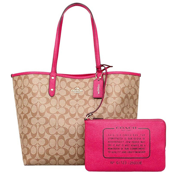 กระเป๋า COACH 25033E REVERSIBLE CITY TOTE IN SIGNATURE