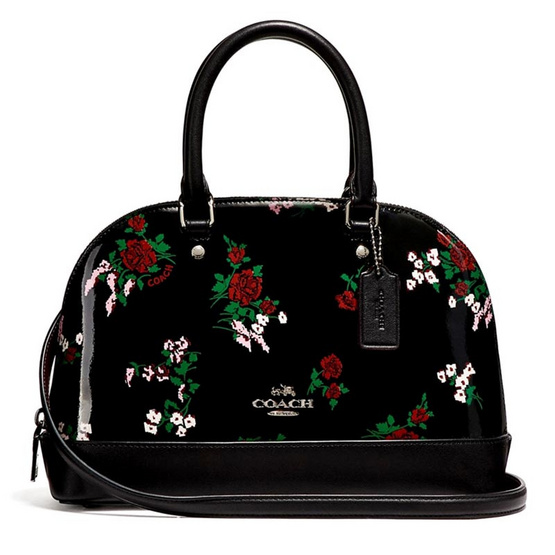 กระเป๋า COACH F25857 MINI SIERRA SATCHEL WITH CROSS STITCH FLORAL PRINT