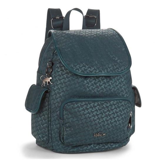 กระเป๋าเป้ Kipling City Pack S - Dk Emerald Emb