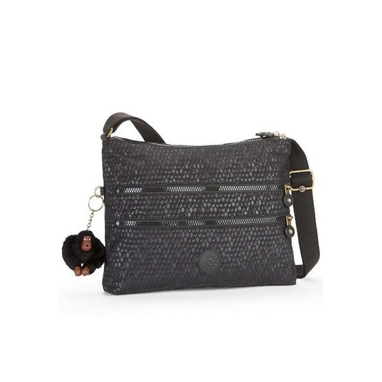 กระเป๋า Kipling Alvar - Black Scale Emb