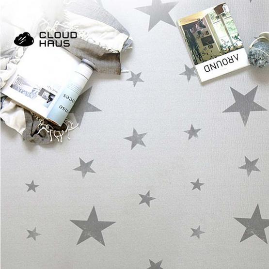 Cloudhaus แผ่นรองคลาน ลาย Vintage Star Ivory