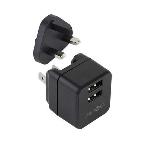Energea Wall Charger Travel Lite 2.4A 2USB UK