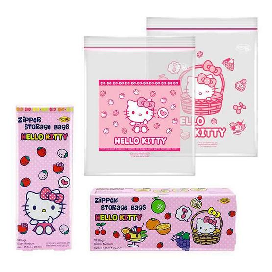 ถุงซิป Kitchen Neat Hello Kitty ขนาด M (แพ็ค 3)