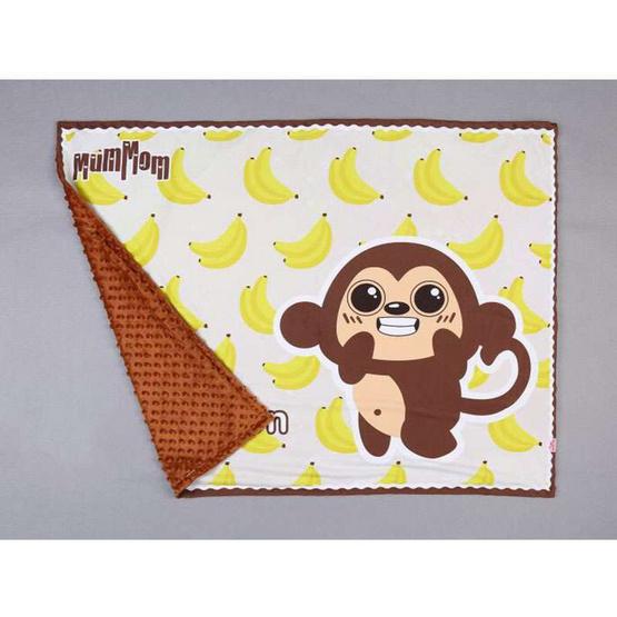 MumMom ผ้าห่มขนมิ้ง ผ้าห่มเด็กทารก (ลิง)