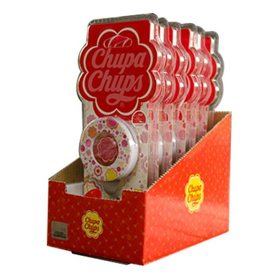 Chupa Chups น้ำหอมปรับอากาศช่องแอร์กลมติดรถยนต์ แบบแพ็ค (6 ชิ้น/1 แพ็ค)