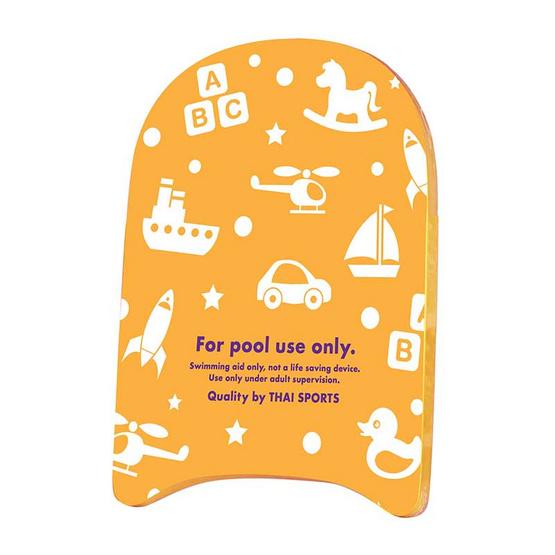 Thai Sports ชุดโฟมว่ายน้ำ ลายเรืองแสง สีส้ม กับ ยางอุดหู Tabata EP405