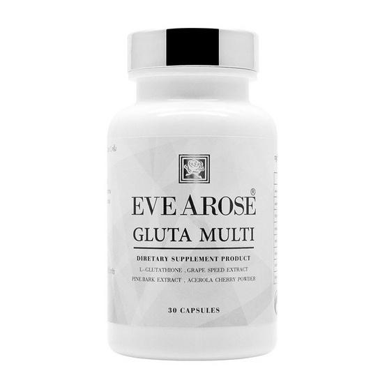 Evearose ผลิตภัณฑ์เสริมอาหารอีฟอะโรส กลูต้า มัลติ ไพน์บาร์ค พลัส เกรพซีส บรรจุ 30 แคปซูล/กระปุก