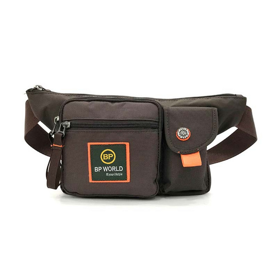 BP WORLD กระเป๋าคาดเอว รุ่น C6332 (สีน้ำตาล)