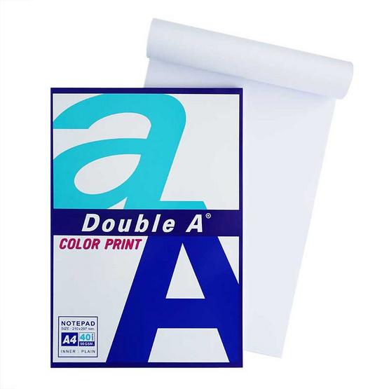 Double A สมุดรายงาน A4 90 แกรม 40 แผ่น/แพ็ค ไม่มีเส้น (แพ็ค 12 เล่ม)
