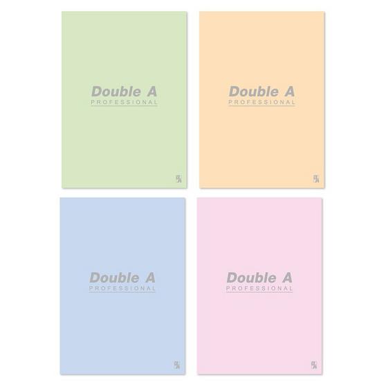 Double A สมุดรายงาน A4 70 แกรม 30 แผ่น มีเส้น (แพ็ค 4 เล่ม)