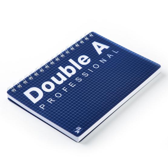 Double A สมุดบันทึกสันห่วงปกพลาสติก B5 70 แกรม 80 แผ่น (มีเส้น)