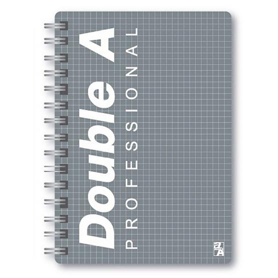 Double A สมุดบันทึกสันห่วงปกพลาสติก A5 70 แกรม 100 แผ่น (มีเส้น)