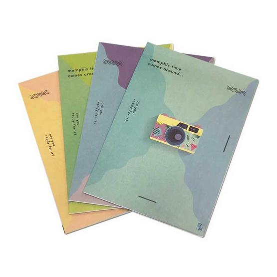 Double A สมุดรายงาน A4 80 แกรม 50 แผ่น คละลาย (แพ็ค 4 เล่ม)