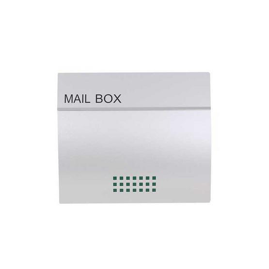 Boxandco ตู้จดหมายแบบฝังกำแพง รุ่น MB03PP (Silver)