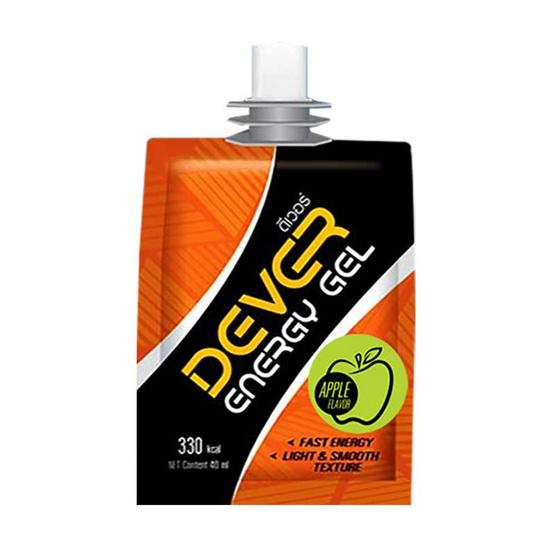 DEVER Energy gel set ดีเวอร์ เครื่องดื่มแบบเจล 100 มล. รสแอปเปิ้ล 3 ซอง และรสลิ้นจี่ 3 ซอง (รวม 6 ซอง)