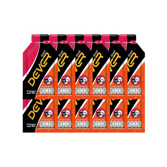 DEVER Energy gel ดีเวอร์ เครื่องดื่มแบบเจล รสลิ้นจี่ 40 มล. (รวม 12 ซอง)