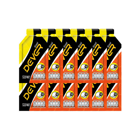 DEVER Energy gel ดีเวอร์ เครื่องดื่มแบบเจล รสเลม่อน 40 มล. (รวม 12 ซอง)