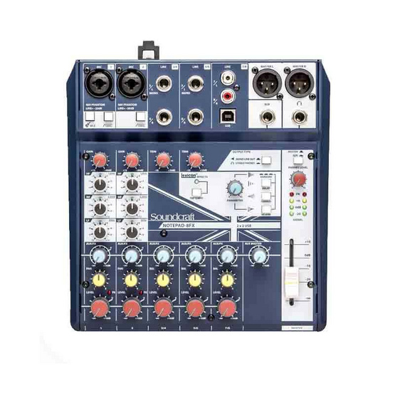 SOUNDCRAFT NOTEPAD-8CH