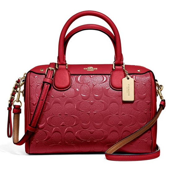 กระเป๋า COACH F11920 MINI BENNETT SATCHEL IN SIGNATURE DEBOSSED PATENT LEATHER (IMN2G) [MCF11920IMN2G]